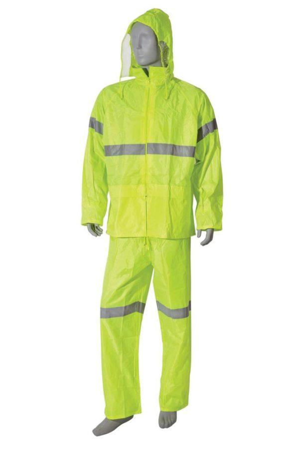 Hi Viz Rain Suit 2 Piece Orange & Lime