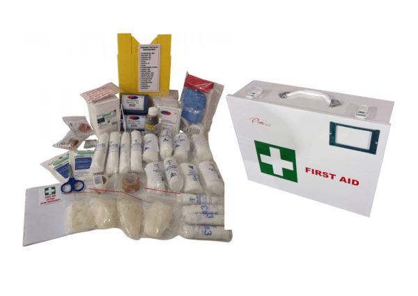 Metal Medical Aid Box Including Regulation 7 Kit