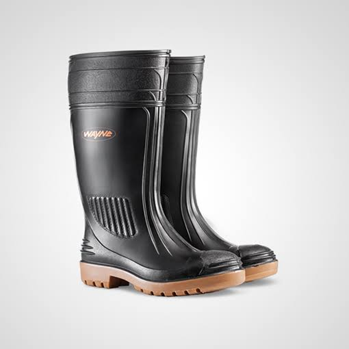 Shosholoza STC Gum Boots Black & Toffee