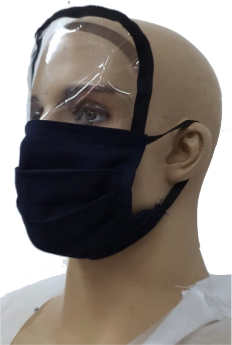Face Shield with Intergrated Mask
